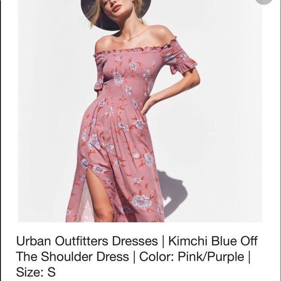 0addfe60c09f Kimchi Blue Dresses   Skirts -  Kimchi Blue  Off shoulder floral pink midi  dress